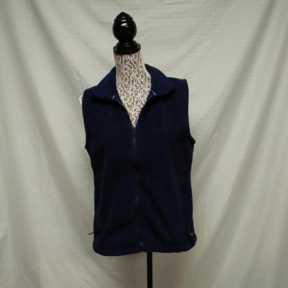 columbia jackets coats ladies navy fleece vest poshmark